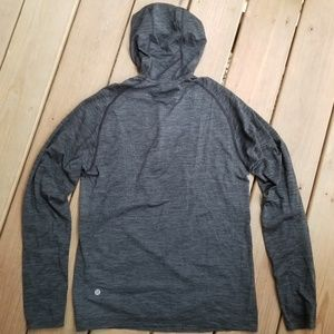 Lululemon quarter zip hooded gray pullover
